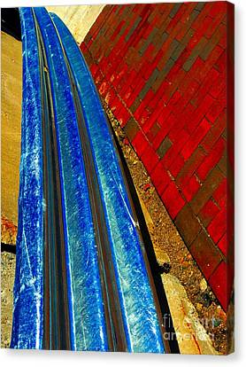 Follow The Rails Canvas Print by Marcia Lee Jones