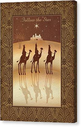 Follow The Star Canvas Print by P.s. Art Studios