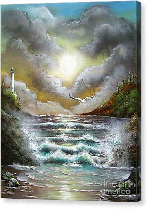 Canvas Print featuring the painting Follow The Wind by Patrice Torrillo