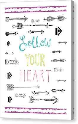 Follow Your Heart Canvas Print by Susan Claire