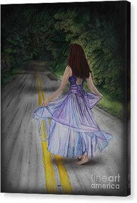 Follow Your Path Canvas Print by Jackie Mestrom