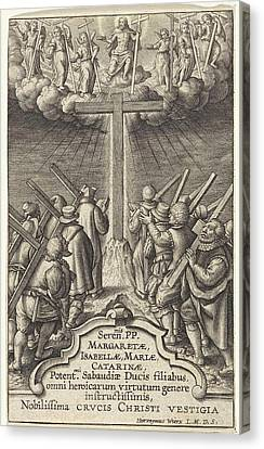 Followers Of Christ, Hieronymus Wierix, Unknown Canvas Print by Hieronymus Wierix