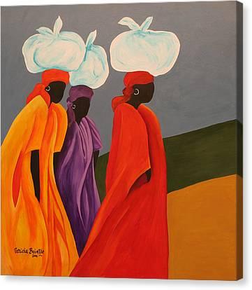 Haitian Canvas Print - Following Anna by Patricia Brintle