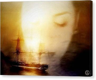 Following Him In Her Mind Canvas Print by Gun Legler