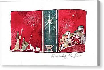 Following The Star Canvas Print by P.s. Art Studios