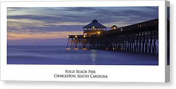 Folly Beach Pier Charleston Sc Canvas Print