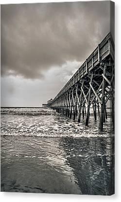 Canvas Print featuring the photograph Folly Beach Pier by Sennie Pierson