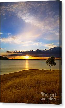 Folsom Lake Sunset Canvas Print by Rima Biswas