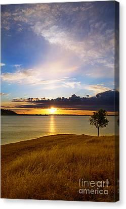 Folsom Lake Sunset Canvas Print
