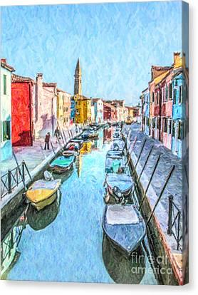 Fondamenta Della Pescheria Canvas Print by Liz Leyden