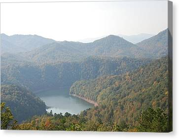Fontana Lake Fall View Canvas Print