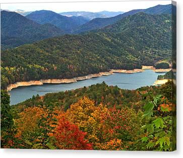 Fontana Lake In Fall Canvas Print
