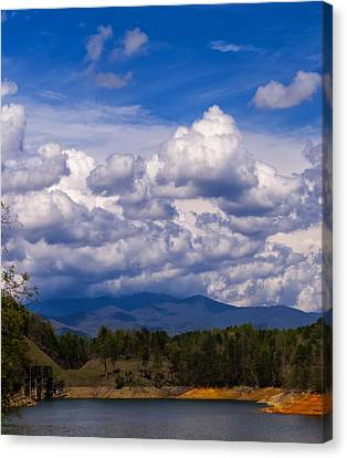 Fontana Lake Storm 2 Canvas Print by Chris Flees