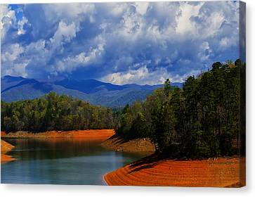 Fontana Lake Storm Canvas Print by Chris Flees