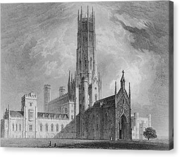 Fonthill Abbey From The North-west Canvas Print by English School