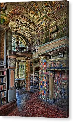 Fonthill Castle Library Room Canvas Print by Susan Candelario