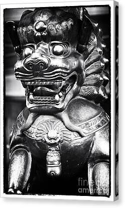 Foo Dog Canvas Print by John Rizzuto