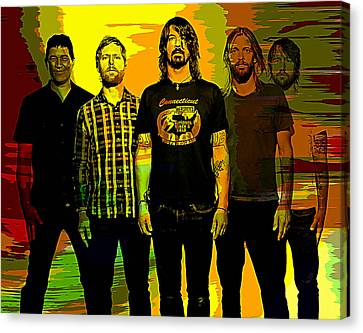 Foo Fighters Canvas Print by Marvin Blaine