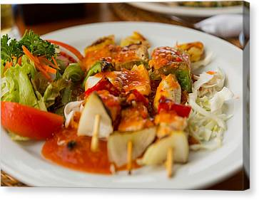 Canvas Print featuring the photograph Food - Bali by Matthew Onheiber