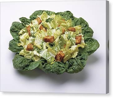 Food - Caesar Salad Prepared Canvas Print by Ed Young