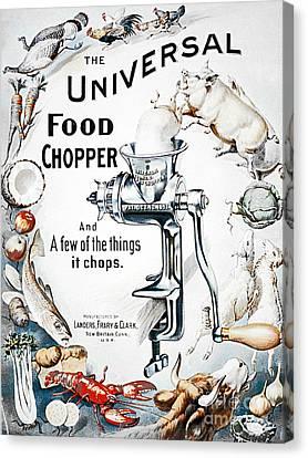 Food Chopper Canvas Print by Flamingo Graphix John Ellis