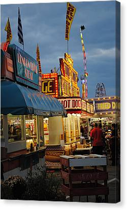 Local Food Canvas Print - Food Court by Skip Willits
