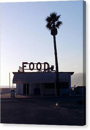 Food With Palm Canvas Print by Mark Barclay