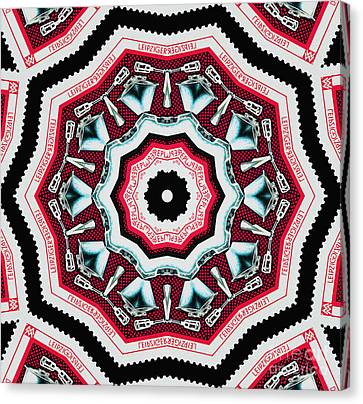 Food Mixer Mandala Canvas Print by Andy Prendy