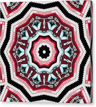 Food Mixer Mandala Canvas Print by Andy Prendy