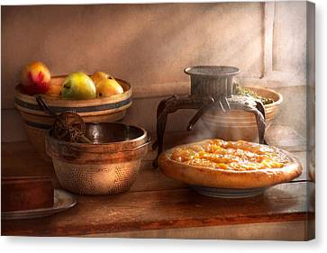 Food - Pie - Mama's Peach Pie Canvas Print by Mike Savad