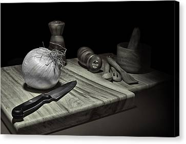 Chopped Canvas Print - Food Prep Still Life by Tom Mc Nemar