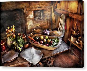 Food - The Start Of A Healthy Meal  Canvas Print by Mike Savad