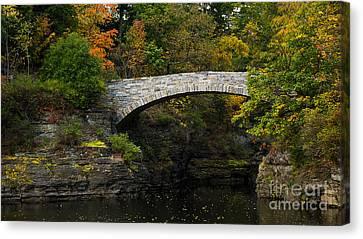 Foot Bridge At Beebe Lake Canvas Print