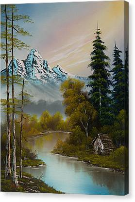 Bob Ross Canvas Print - Mountain Sanctuary by Chris Steele