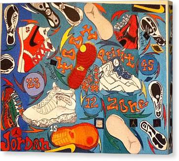 Foot Print Zone  Canvas Print by Mj  Museum