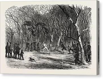 Foot Race At Bayswater, London, Uk Canvas Print by English School