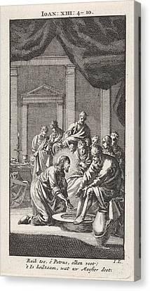 Foot Washing Of Peter, Jan Luyken Canvas Print