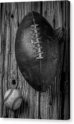 Football And Baseball Canvas Print by Garry Gay
