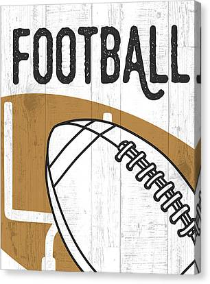 Football Canvas Print by Aubree Perrenoud