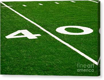 Football Canvas Print - Football Field 40 Yard Line Picture by Paul Velgos