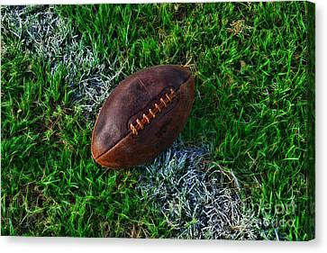 Football - First And Goal Canvas Print by Paul Ward