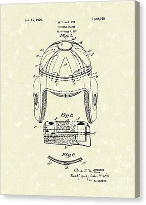 Football Helmet 1929 Patent Art Canvas Print