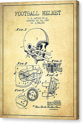 Football Helmet Patent From 1960 - Vintage Canvas Print