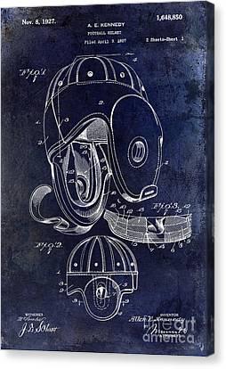 Miami Canvas Print - 1927 Football Helmet Patent by Jon Neidert