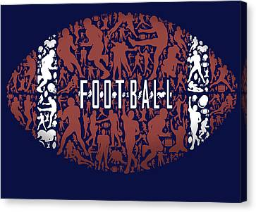 Football Canvas Print by Jim Baldwin