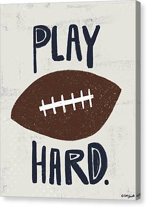 Football Canvas Print by Katie Doucette
