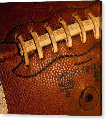Football Laces Canvas Print by David Patterson