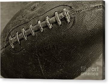 Qb Canvas Print - Football Old And Worn by Paul Ward