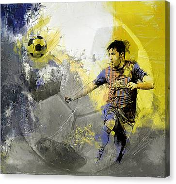 Football Player Canvas Print by Catf
