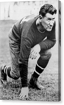 Football Player Jim Thorpe Canvas Print by Underwood Archives